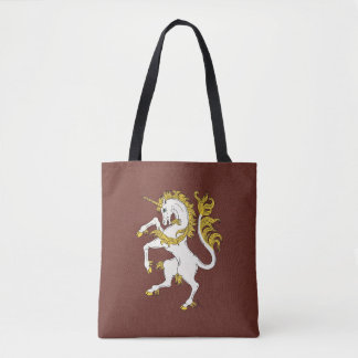 Unicornio desenfrenado bolsa de tela