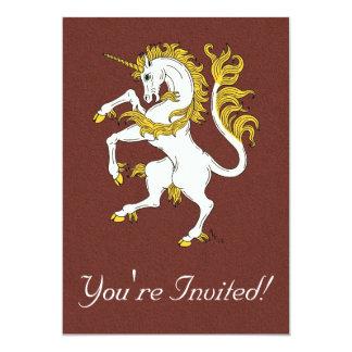 "Unicornio desenfrenado invitación 5"" x 7"""