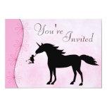 Unicornio e invitación del cumpleaños de la invitación 12,7 x 17,8 cm