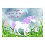 Unicornio e invitación del cumpleaños de las