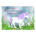 Unicornio e invitación del cumpleaños de las marip