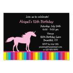 Unicornio e invitación del cumpleaños del arco
