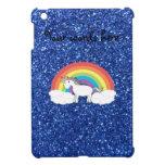 Unicornio en brillo azul de las nubes falso iPad mini cobertura