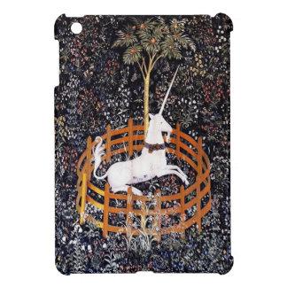 Unicornio en caso del iPad de la tapicería del cau