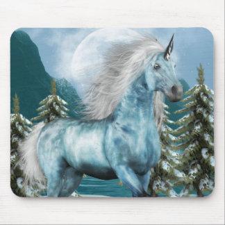 Unicornio en cojín de ratón del claro de luna alfombrillas de ratón