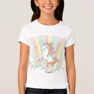 Unicornio en colores pastel del arco iris playera