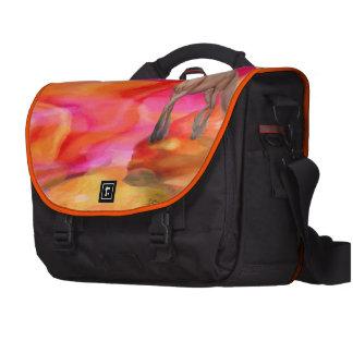 Unicornio en desierto pintado bolsas de portátil