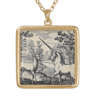 Unicornio en el bosque colgante cuadrado