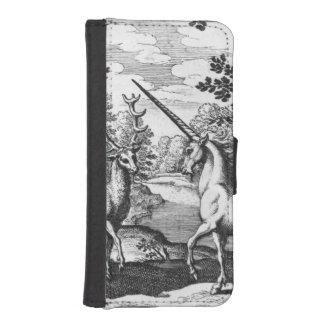 Unicornio en el bosque funda billetera para teléfono