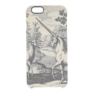 Unicornio en el bosque funda clearly™ deflector para iPhone 6 de uncommon