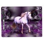 Unicornio en fractal púrpura pizarras blancas de calidad