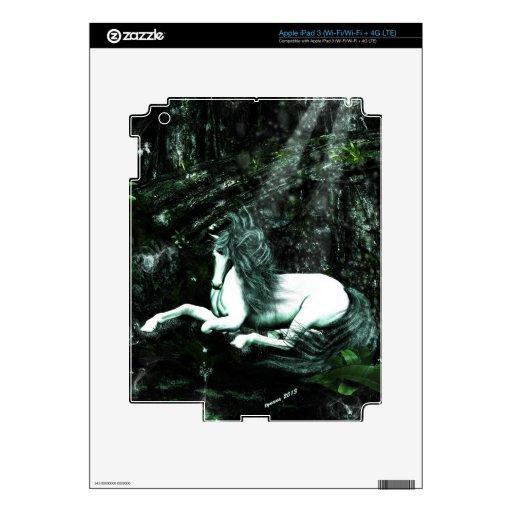 Unicornio en las maderas profundas iPad 3 skin