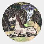"""Unicornio en las montañas"" colorized Pegatina"