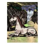 """""""Unicornio en las montañas"""" colorized Tarjetas Postales"""
