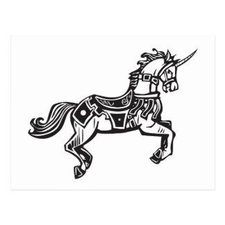 Unicornio en librea postal
