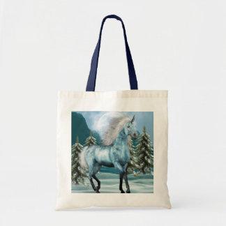 Unicornio en pequeño bolso del claro de luna bolsa tela barata