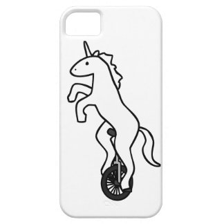 Unicornio en un Unicycle iPhone 5 Carcasa