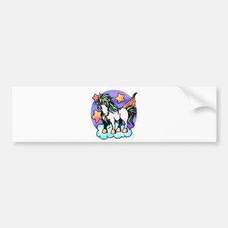 unicornio en una nube pegatina de parachoque