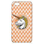 Unicornio enojado; Rayas anaranjadas y blancas de