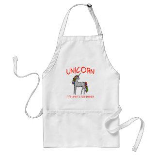 Unicornio es cuál está para la cena delantal