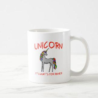Unicornio es cuál está para la cena taza de café