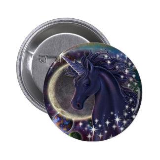 Unicornio estelar pin redondo de 2 pulgadas