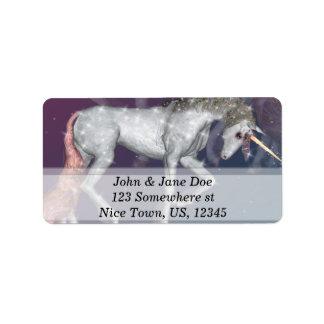 Unicornio Etiquetas De Dirección