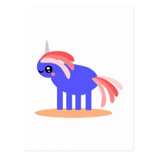 Unicornio extraño postal