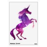 Unicornio galáctico teñido púrpura vinilo adhesivo