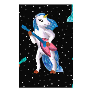unicornio galaxy stationery