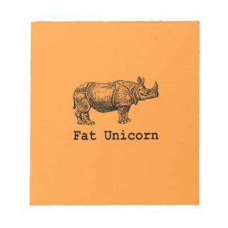 Unicornio gordo libreta para notas