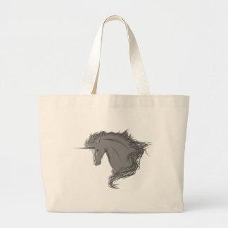Unicornio gris bolsa de mano