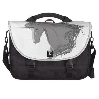 Unicornio gris bolsas para portatil