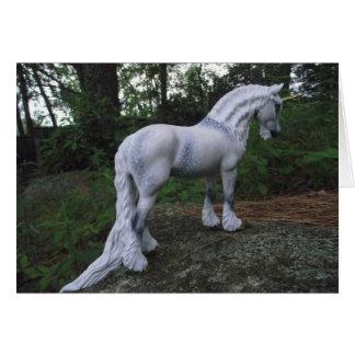 Unicornio gris Dappled Tarjetas