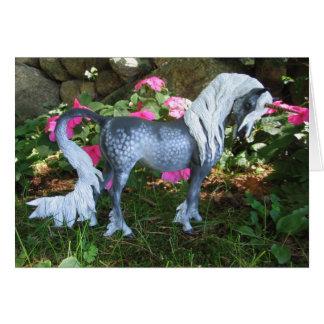 Unicornio gris Dappled Felicitacion