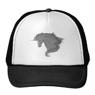 Unicornio gris gorros bordados