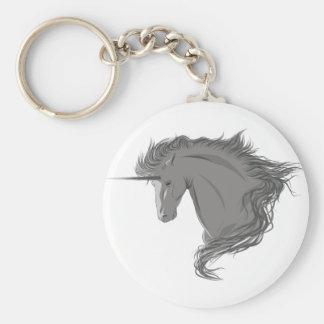 Unicornio gris llaveros personalizados