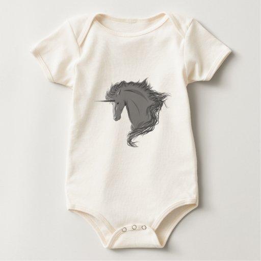 Unicornio gris mameluco