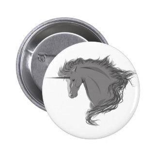 Unicornio gris pin