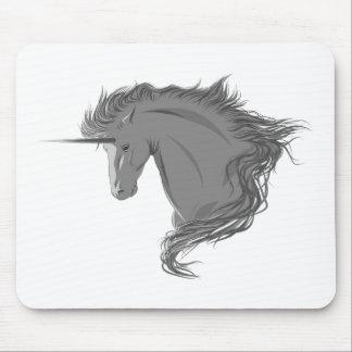 Unicornio gris tapete de ratón