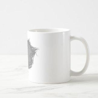 Unicornio gris taza de café