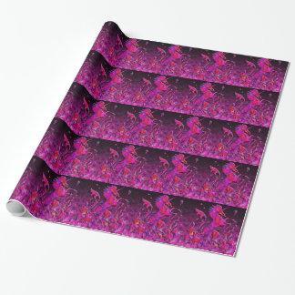 Unicornio heráldico: Rosa y púrpura Papel De Regalo