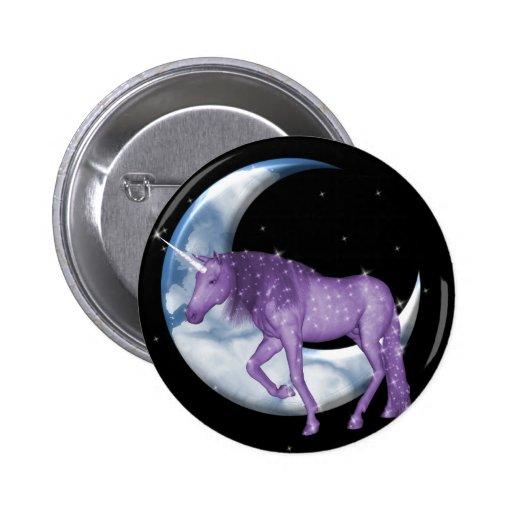 Unicornio ideal del tiempo pin redondo 5 cm