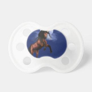 Unicornio iluminado por la luna chupetes para bebés
