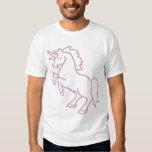 Unicornio impreso del rosa del diamante artificial poleras