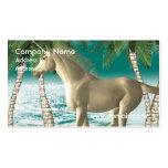 Unicornio juguetón tarjetas personales