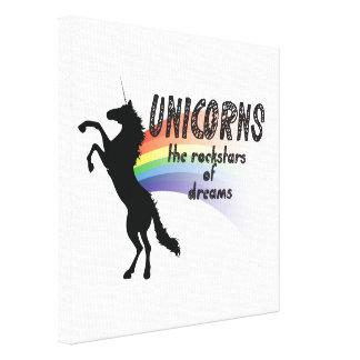 Unicornio Lienzo Envuelto Para Galerías