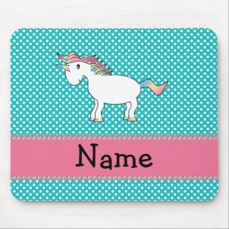 Unicornio lindo conocido personalizado alfombrilla de ratones