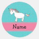 Unicornio lindo conocido personalizado pegatina