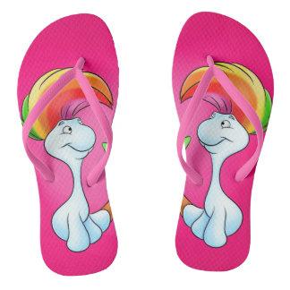 unicornio lindo de los flips-flopes del dibujo